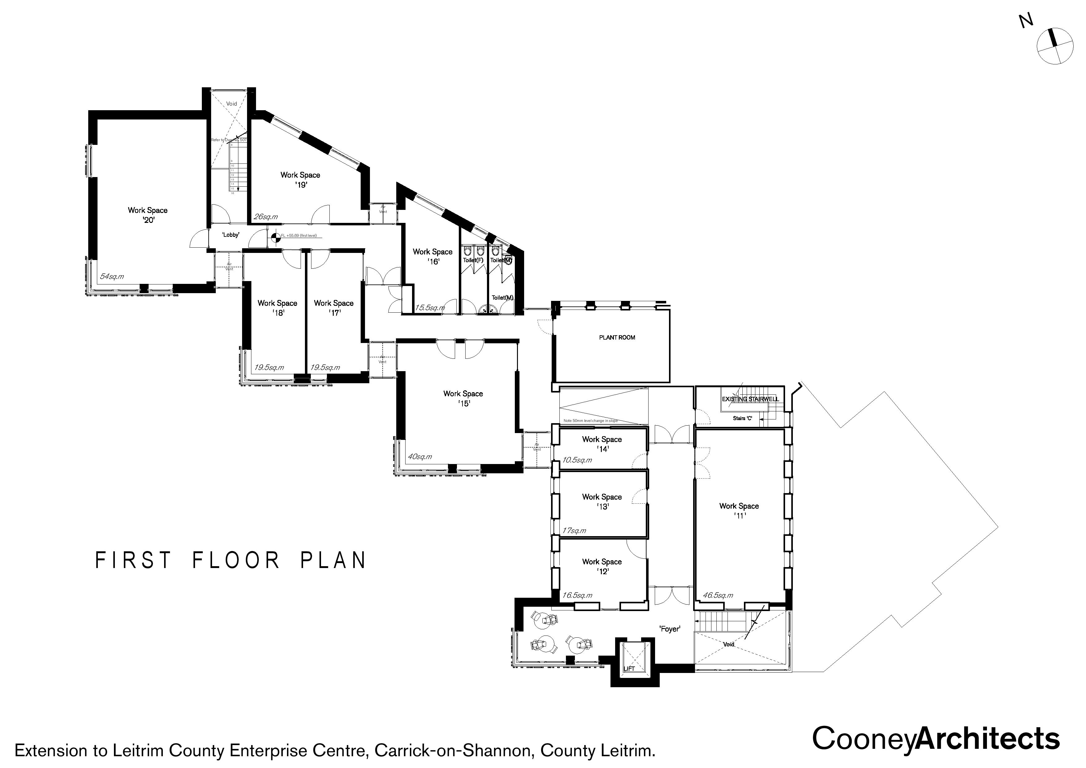 First Floor Plans for New Innovation Centre
